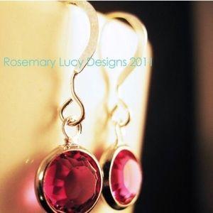 sterling Swarovski earrings